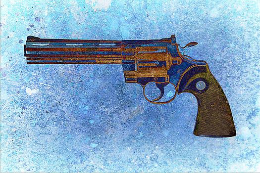 M L C - Colt Python 357 Mag on Blue Background.