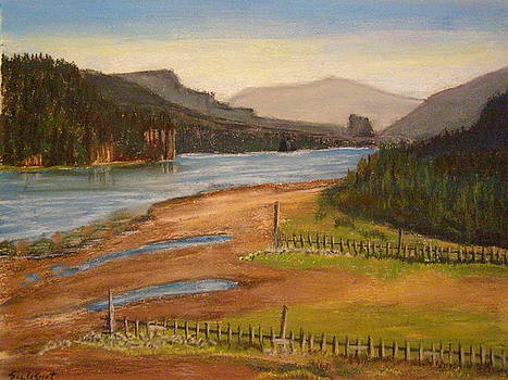 Columbia Gorge East at Rooster Rock by  Joseph Soulagnet