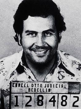Columbia Pablo Escobar Mug Shot by Tony Rubino