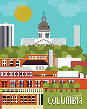Columbia South Carolina Vertical Scene by Karen Young