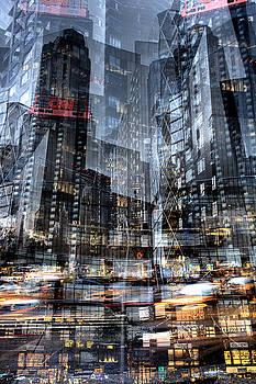 Columbus Circle Collage 1 by Dave Beckerman