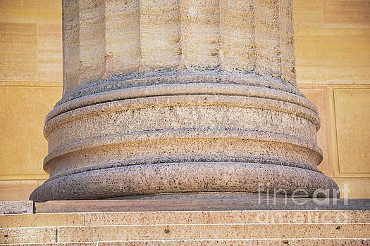 Column Base at Philadelphia Art Museum by Leslie Banks