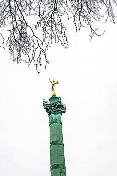 Column of July. Bastille's Place. Paris. France. by Bernard Jaubert
