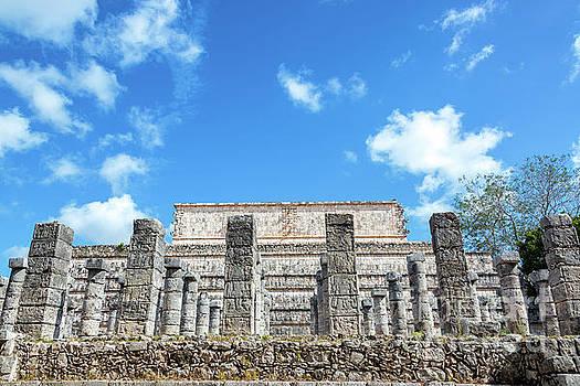 Columns in Chichen Itza by Jess Kraft