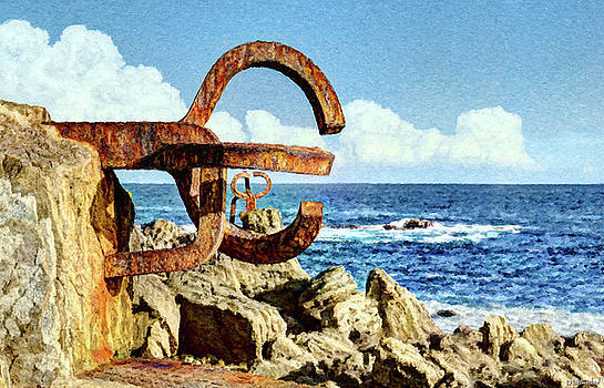 Weston Westmoreland - Comb of the Wind by Chillida 01 - Painting