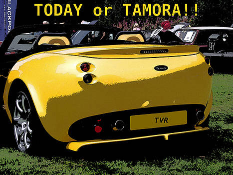 Comic Strip TVR Car by Dawn Hay