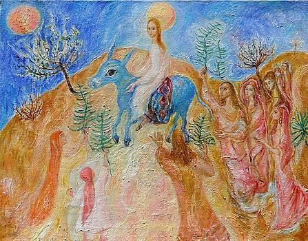 coming to Jerusalem   by Natalia Slovinskaya