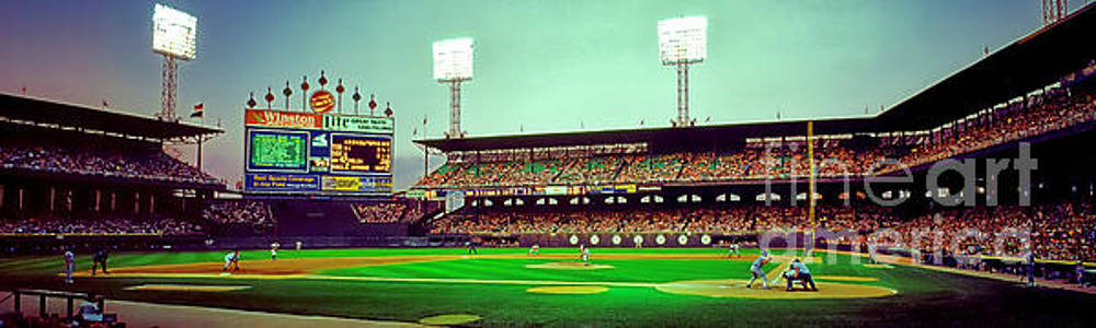 Comiskey Park third and home  by Tom Jelen