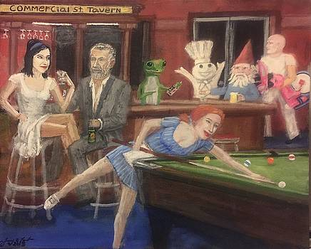 Commercial St. Tavern by Larry E Lamb