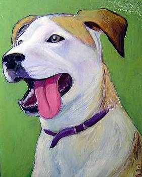 Commission Pet Portrait in acrylic paint by Gayle Bell