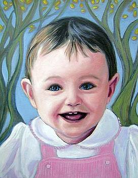 Commission portrait in oil paint by Gayle Bell