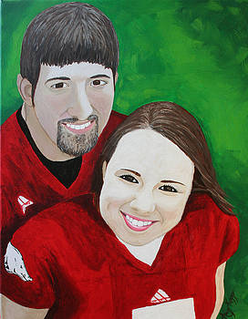 Commissioned Portrait - Brianna and Kevin by Amy Parker