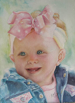 Commissioned Toddler Portrait by Mary Wykes