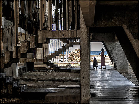 Kako Escalona - Stairs, Giron building. Malecon, Havana, Cuba