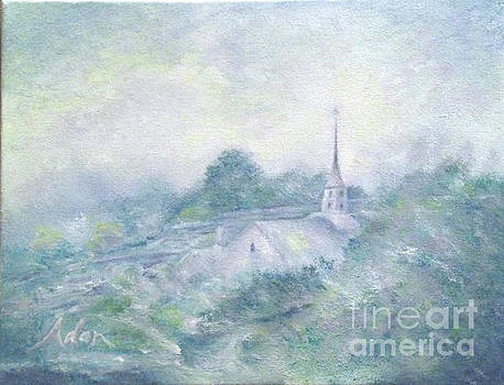 Felipe Adan Lerma - Community Church Stowe Vermont Painting