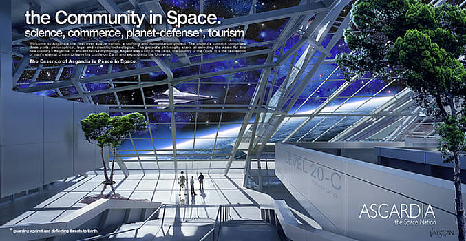 James Vaughan - Community In Space - Asgardia - text
