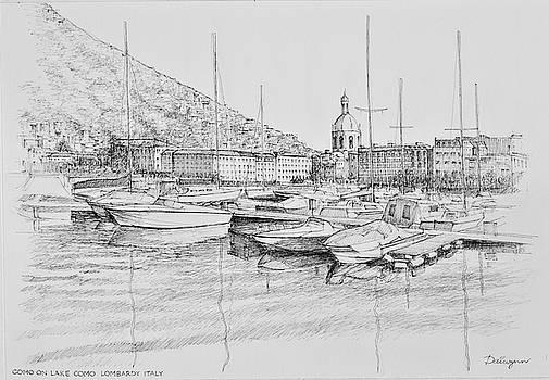 Como on Lake Como Lombardy Italy by Dai Wynn