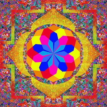 Compassion Mandala 4 by Julian Venter