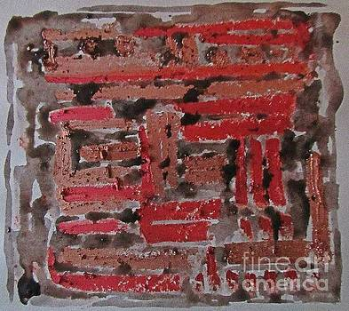 Composition in Red and Black by John Malone