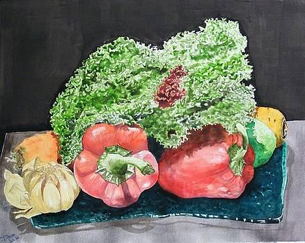 Composition With Lollo Salad by Ciocan Tudor-cosmin
