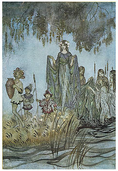 Arthur Rackman - Comus Sabrina rises attended by water-nymphs