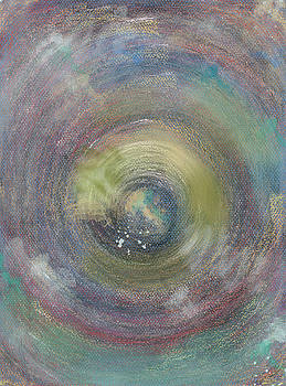 Concentric rings spinning with gold by Naike Jahgan