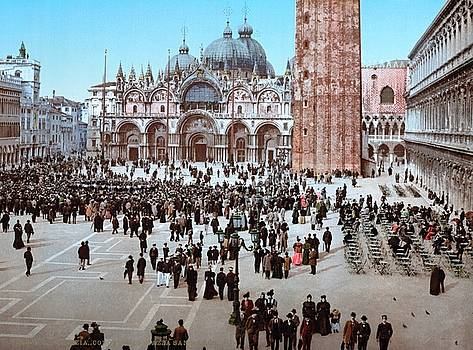 Concert in St. Marks Place, Venice, Italy ca 1895 by Vintage Printery