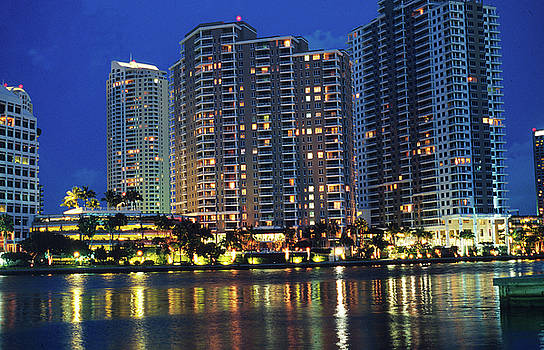 Condos on Biscayne Bay by Carl Purcell