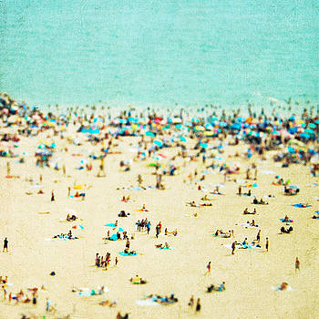 Coney Island Beach by Mina Teslaru