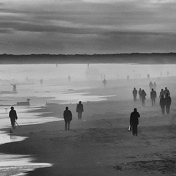 Coney Island Walkers by Eric Lake