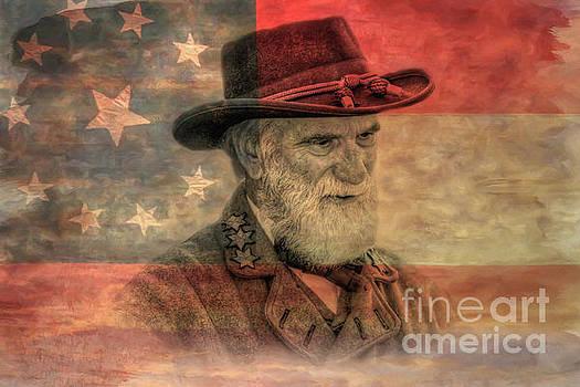 Confederate General Rebel Flag by Randy Steele