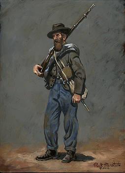 Confederate Infantryman 1863 by Mark Maritato