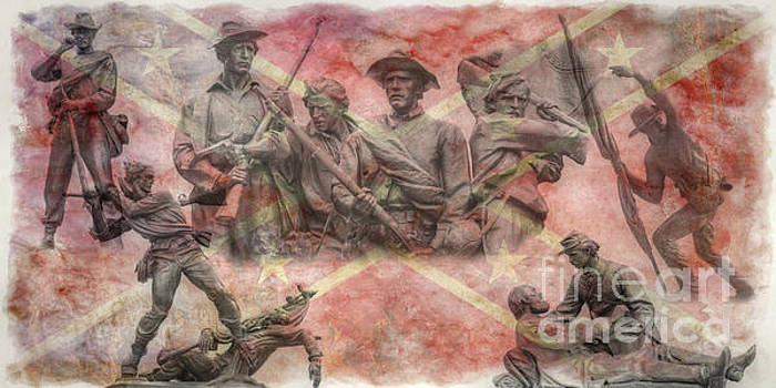 Confederate Monuments On The Gettysburg Battlefield by Randy Steele