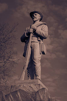 Confederate Statue  Standing Guard by James L Bartlett
