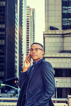 Alexander Image - Confident African American Businessman working in New York 15082346