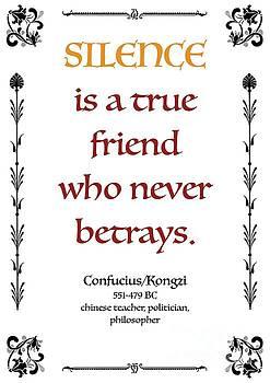 Confucius about Silence by Zalman Latzkovich
