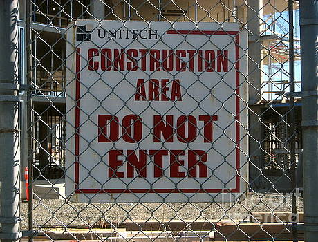 Construction Site Sign 2 by Tin Tran