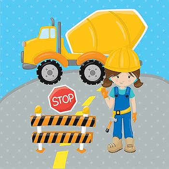 Life Over Here - Construction Zone - Concrete Truck Roadwork In Progress Gifts #16