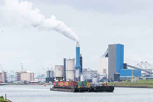 Container Ship Entering Rotterdam by Hans Engbers