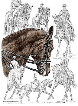 Kelli Swan - Contemplating Collection - Dressage Horse Print color tinted