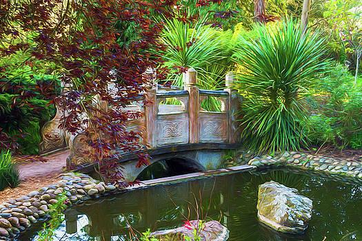 Contemplation Bridge at Chinese Pavilion by Bonnie Follett