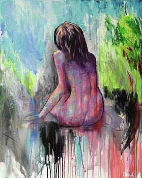 Contemplation Nude Painting by Chris Hobel