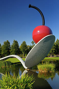 Reimar Gaertner - Contemporary Art Spoonbridge and Cherry over a pond in Minneapol
