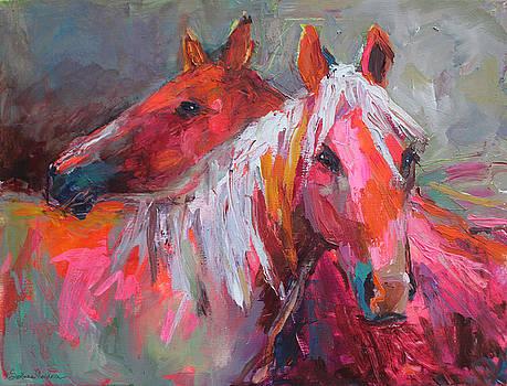 Contemporary Horses painting by Svetlana Novikova