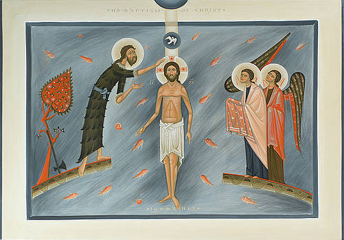Olga Shalamova - Contemporary icon Baptism of Christ