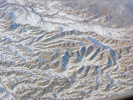 Continental Divide from 30000 Feet by Phyllis Britton
