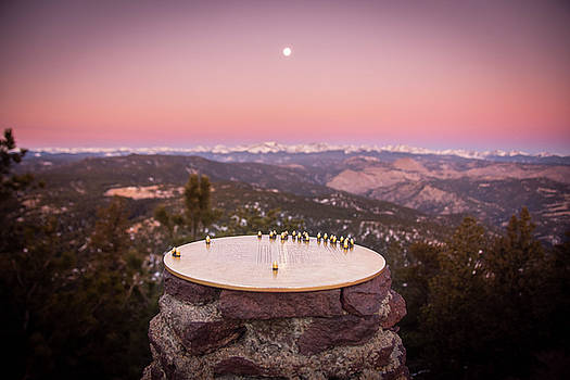 Continental Divide Moon Set by Colin Collins