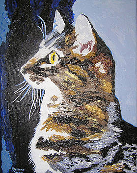 Contmeplating Cat by Ricklene Wren