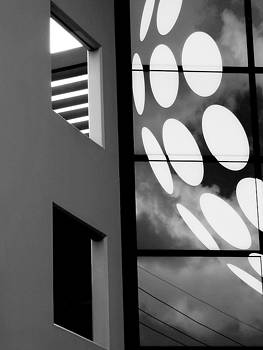 Contrast in Abstract black and white. by Denise Clark