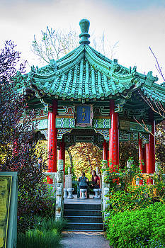 Conversation at the Chinese Pavilion by Bonnie Follett